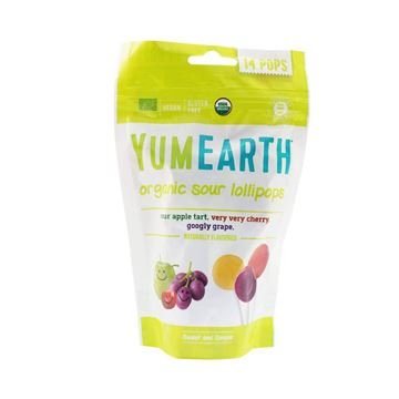 Picture of YUM EARTH organic sour lollipops